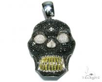 Black Skull Head XL Diamond Skull Pendants