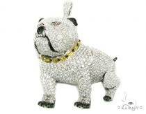 XL Bulldog Pendant Diamond Pendants
