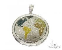 Hip Hop Jewelry - World Round Cut Pendant Diamond Pendants