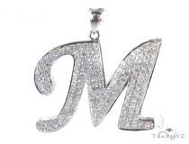 Frozen M Pendant Diamond Pendants