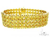 Canary 4 Row Toni Bracelet Mens Diamond Bracelets
