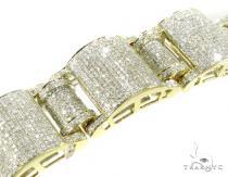 Yellow Gold Pave Jumbo Bracelet Mens Diamond Bracelets