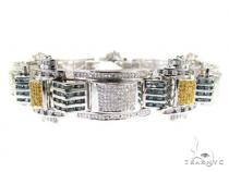 Hip Hop Jewelry - Pave & Channel Colored Joker Bracelet Mens Diamond Bracelets