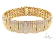 Yellow Gold Presidential Bracelet Mens Diamond Bracelets