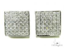 Prong Diamond Earrings 36944 Mens Diamond Earrings