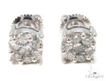 Prong Diamond Stud Earrings 36948 Mens Stud Earrings