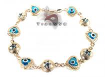 Evil Eye Bracelet Gold Mens Bracelets