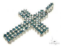 Ocean Prong Cross Mens Diamond Cross