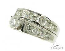 Ladies 18 Stone Tension Set 結婚指輪 ダイヤモンド セット