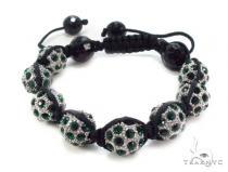 Crystal Shambala Rope Bracelet 37125 Gold