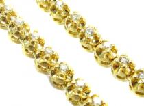 Yellow Gold Prong Chain 32 Inches, 5mm, 90.30 Grams Diamond