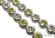 Canary & White Destiny Chain 26 Inches, 8mm, 121.50 Grams Diamond