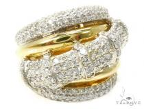 18K Gold Pave Diamond Ring 37255 ピンキーリング