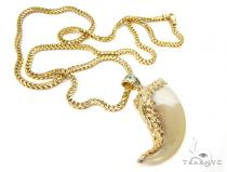 14K Gold Lion Claw Chain Diamond Chains