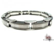 Prong Diamond Stainless Steel Bracelet 37309 Stainless Steel Bracelets