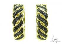 Prong Black Diamond Hoop Earrings 37312 Style