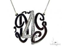 Diamond Monogram Pendant 37393 ダイヤモンド チェーン