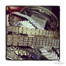 Prong Diamond Bracelet 37400 Mens Diamond Bracelets