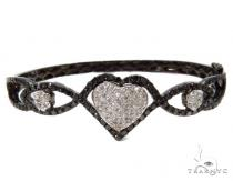 Prong Diamond Heart Bangle Bracelet 37451 Bangle