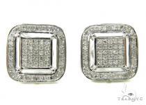 Prong Diamond Earrings 37798 Mens Diamond Earrings