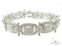 Prong Diamond Bracelet 37936 Silver
