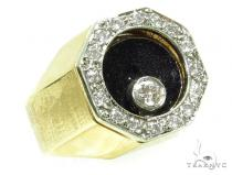 Bezel Floating Diamond Pinky Ring 37950 Style