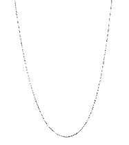 14kt 16 Inches White Gold 0.7mm Shiny Classic Box Chain Gold