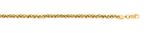 14kt 24 Inches Yellow Gold 3.3mm Lite Weigth Wheat Chain Gold