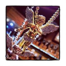 Diamond Yelllow Gold Angel Pendant Metal