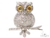 Prong Diamond Owl Pendant 39443 Diamond Pendants