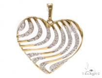 Prong Diamond Heart Pendant 39444 Style