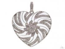 Prong Diamond Heart Pendant 39446 Style