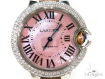Pave Diamond Cartier Ballon Blue Pink Dial  Watch Cartier