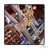 Prong Diamond Butterfly Necklace 39606 Diamond