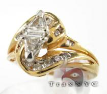 Tri Cut Swirl Ring Womens Diamond Rings
