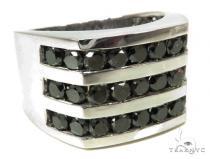 Channel Black Diamond Ring 39925 Mens Black Diamond Rings