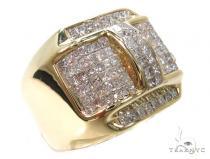 14k Yellow Gold Invisible Mens Diamond Ring-39979 Stone