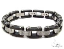 Prong Diamond Stainless Steel Bracelet-40039 Stainless Steel Bracelets