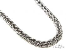 Silver Hollow Chain 26 Inches 7mm 54.8 Grams-40061 Silver