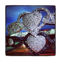 WG Heart of Gold Bracelet Diamond