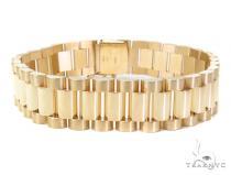 Gold Mens Bracelet-40118 Gold