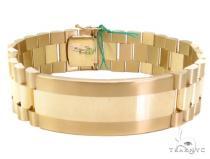 Gold Plate 7 Mens Bracelet-40122 Gold Mens Bracelets