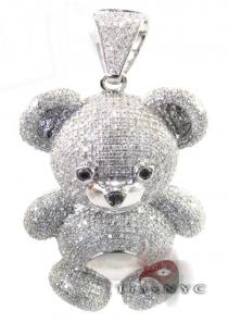 Diamond Teddy Bear Diamond Pendants