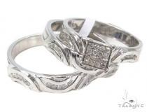 Diamond Wedding Silver Ring Set 40211 レディース シルバーリング