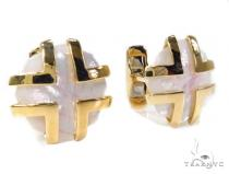 Mens Gold Cuff Links 40236 Mens Gold Earrings