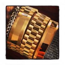Gold Mens Bracelet-40120 Gold