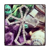 Prong Diamond Cross 40365 ダイヤモンド クロス