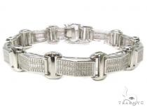 Prong Diamond Sterling Silver Bracelet 40429 Silver & Stainless Steel