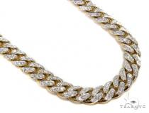 Prong Miami Cuban Diamond Chain 30 Inches 9mm 148.6 Grams 40450 Diamond Chains