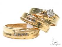 Prong Diamond Wedding Set 40505 結婚指輪 ダイヤモンド セット